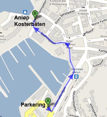 strømstad kart Kart over Strömstad sentrum | Livet så smått strømstad kart
